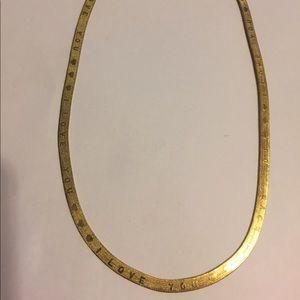 Reversible I Love You Herringbone Chain